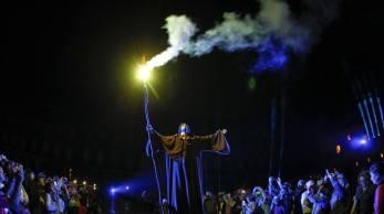 En el acto inaugural de las Fiestas del Apóstol 2015