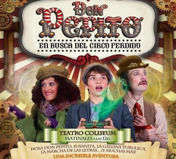 """Cartel """"Don Pepito, en busca del circo perdido"""""""