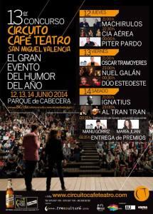Cartel finalistas XIII Concurso de Café teatro de Valencia