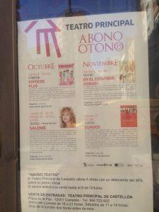 En el Teatro Principal de Castellón