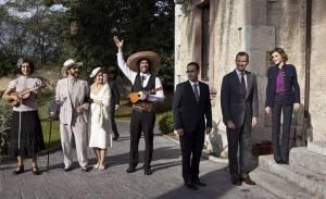 En la entrega del Premio Princesa de Asturias al pueblo de Colombres