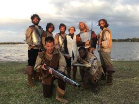 Equipo de Españoles en la producción Malinche de Canal 11